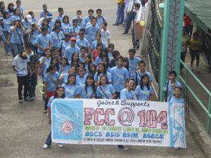College of computer Studies students and faculty joins and supports FCC 104th founders day celeberation parade