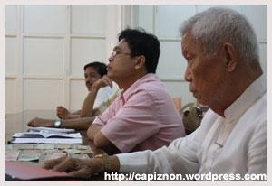 Capiz historian Romeo Arceño with Sarreal Soquiño, a history teacher at the Filamer Christian College