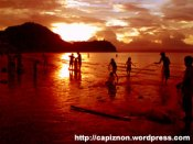 Captivating scene of sunset at Capiz Bay