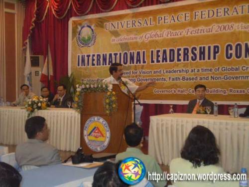 Governor Victor Tanco at International Leadership seminar held Governors Hall, Capiz Provincial Capitol