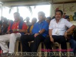 Sen. Mar Roxas with Roxas City Mayor Vicente Bermejo and capiz Governor Victor A. Tanco