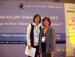 Mrs. Soqueno together with one of the participants in the International Language Conference