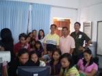 Mr. Anthony Villaroza, Mr. Rommel B. Sario (Speaker) and Engr. Zandro Amanguiton with student on Blogging Seminar Workshop