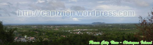 Panoramic View of Olotayan Island and Roxas City
