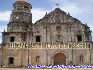 Sta. Monica Church, Panay Capiz.. the church where the Biggest Bell in Asia hangs in its belfry