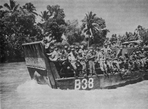 LCM Carrying Troops, Mindanao River