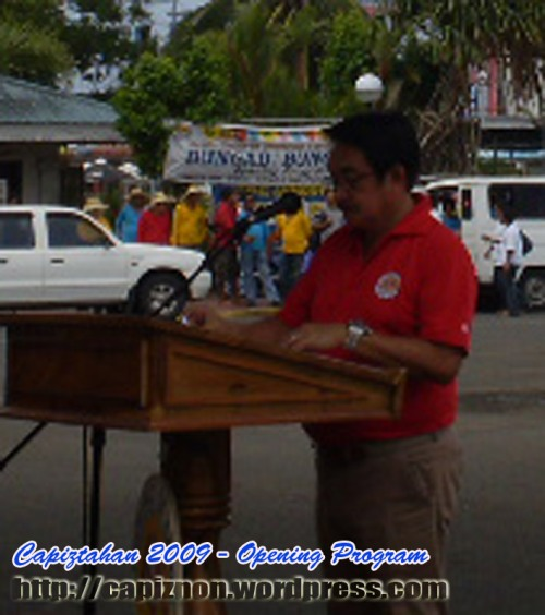 Governor Victor Tanco, welcome message during the Capiztahan 2009