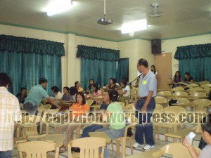 Capiz Historical Institute member during the workshop with Professor Virgilio Clavel