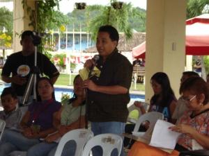 Budyong Kapehan Anchorman Rexam Laguda during the Press Conference