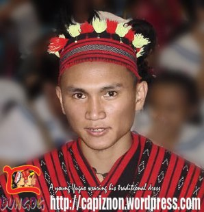 An Ifugao wearing his traditional dress.