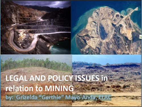 LEGAL AND POLICY ISSUES in relation to MINING