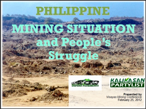 Philippine Mining Situation and Peoples Struggle